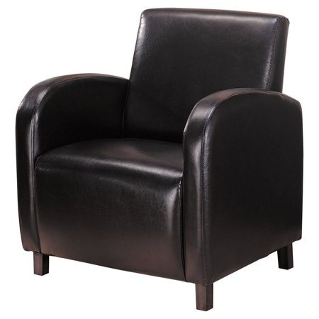 Coaster Upholstery Leatherette Accent Chair, Dark