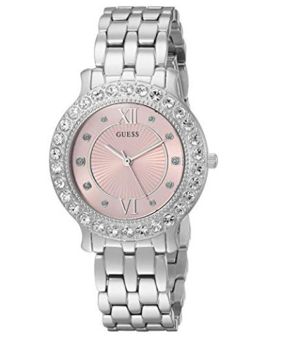 GUESS Women's Stainless Steel Crystal Watch U1062L2