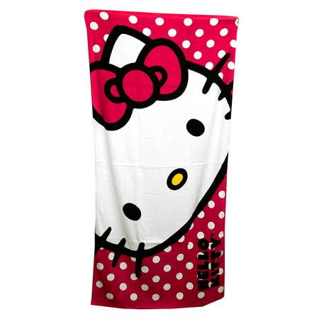 Sanrio The Northwest Company Hello Kitty Happy Kitty Beach Towel, 30 by 60