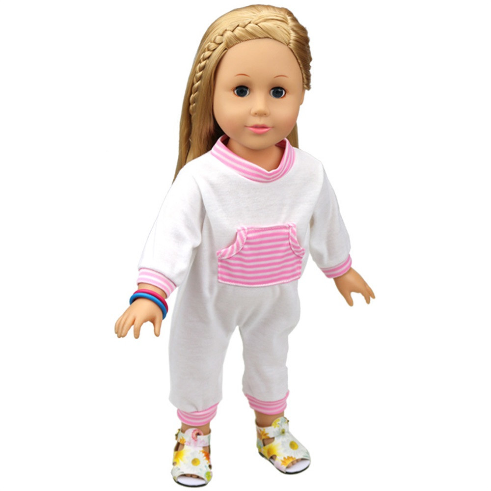 DZT1968Baby Doll Clothes Kawaii Design Pajamas Outfit For 18 inch American Girl Doll