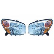 Go-Parts - PAIR/SET - OE Replacement for 2004 - 2005 Toyota RAV4 Front Headlightss Headlamps Assemblies Front Housing / Lens / Cover - Left & Right (Driver & Passenger) Side Replacement For Toyota)