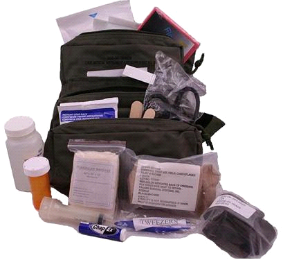 Elite M.O.L.L.E. Straps Fully Stocked Medic First Aid Kit Bag by