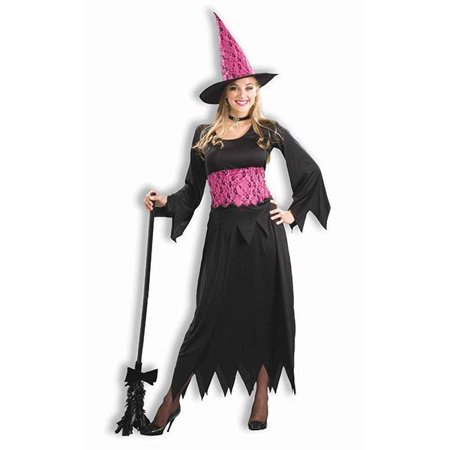 b112db4db6b Sexy Lacy Pink Evil Witch Costume Dress Outfit Adult Women Black Pink Plus  Size