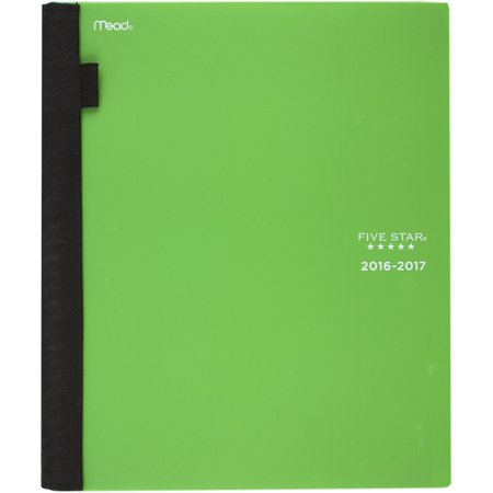 Five Star 2016-2017 Weekly & Monthly Academic Planner Lime, 8.5 x 11