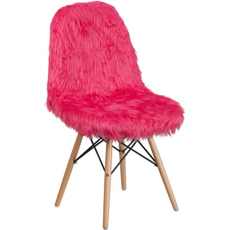 Flash Furniture Shaggy Dog Accent Chair In Hot Pink ()