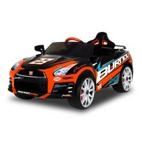 12V Best Ride On Nissan GTR-R35 in Black with Racing Deco, Battery Powered Wheels, Wonderlanes Toys for Kids