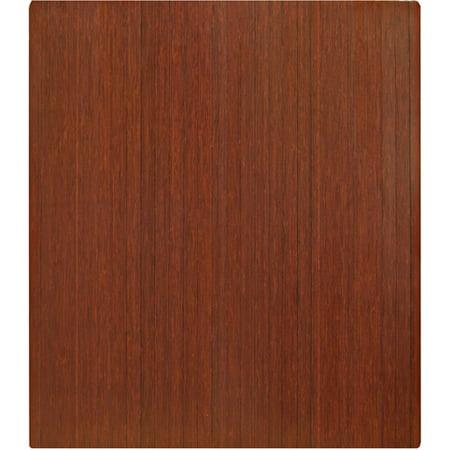 Anji Mountain Bamboo 42 x 48 Chair Mat for Carpet and Hard Floor, Rectangular, Cherry