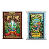 FoxFarm Ocean Forest Garden Soil Mix and Happy Frog Organic Potting Soil Mix