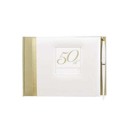 C.R Gibson Guest Book with Pen - Golden Anniversary (1CT)