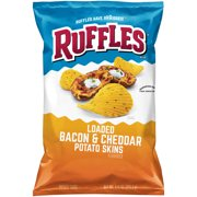 Ruffles Loaded Bacon & Cheddar Potato Skins Potato Chips, 8.5 oz