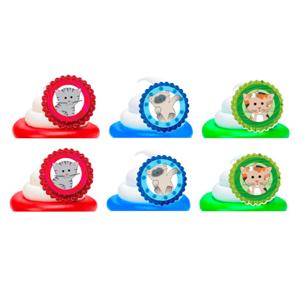 Cute Kitty Kitten Cat Easy Toppers Cupcake Decoration Party Favor Rings -12pk](Hello Kitty Cupcake Decorations)