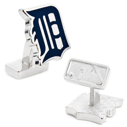 MLB Mens Palladium Detroit Tigers Cufflinks with Gift Box PD-TGR-PP NEW