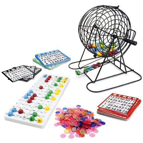 Royal Bingo Supplies Jumbo Bingo Game with 100 Bingo Cards, 500 Bingo Chips and 9 Drum Multi-Colored by Royal Bingo Supplies
