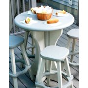30 in. Diameter Patio Table in Gray