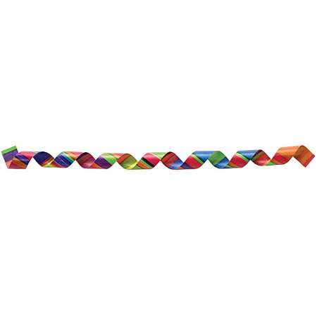"Berwick Printed Curling Ribbon, 3/8"" Wide x 250 Yards, Crazy Stripe"