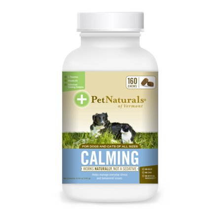 Pet Naturals of Vermont Calming for Dogs and Cats, Behavior Support Supplement, 160 Bite-Sized (Best Cat Calming Products)