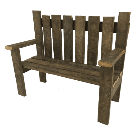 Remarkable Rustic Reclaimed Tobacco Lath Board Small Garden Bench Short Links Chair Design For Home Short Linksinfo