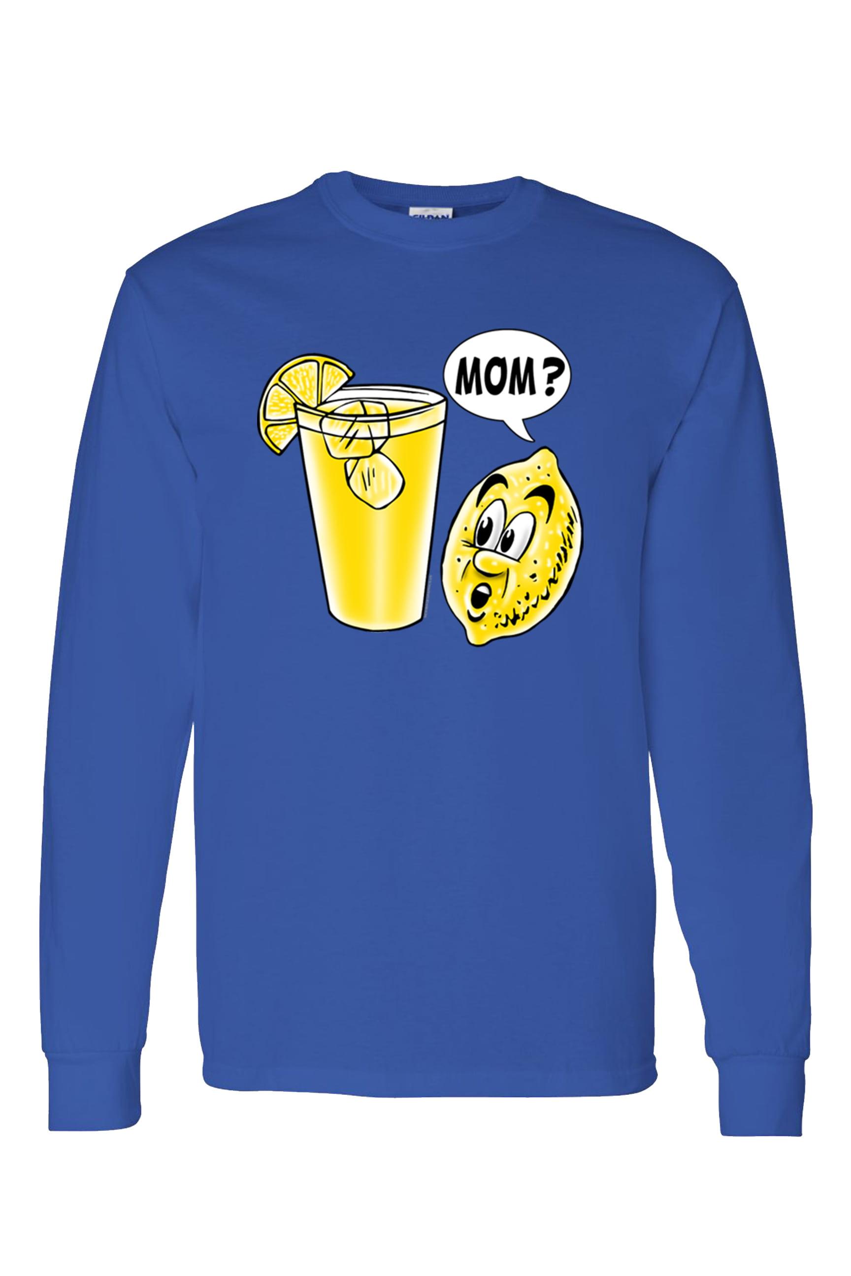 5ff1035ee Men's/Unisex Funny Lemon Kid Mom? Long Sleeve T-Shirt
