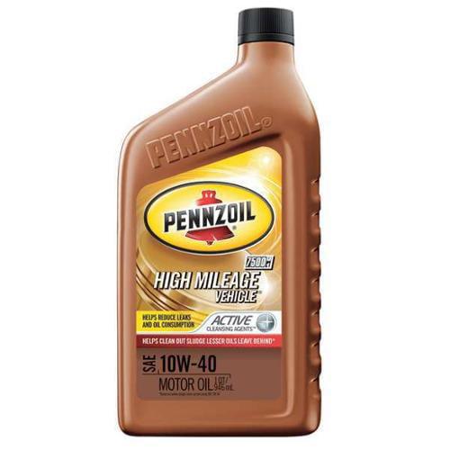 PENNZOIL 550022829 Motor Oil,1 qt.,10W-40,Hi Mileage