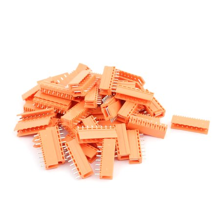 50Pcs AC300V 3 96mm Pitch 8P Straight Needle Plug-In PCB Terminal Block