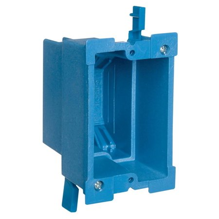 Gang Old Work Box (Carlon Super Blue BH118R Old Work Outlet Box, 1 Gang, 18 cu-in x 3-7/8 in L x 2-3/8 in W)