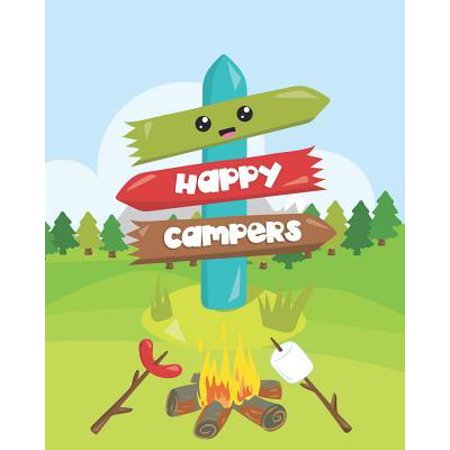 Happy Campers: Cute Camping Gift Journal Record All Your Memories and Adventures: Customized Travel Book (Customize Your Gift)