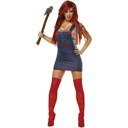 Chucky Sassy Adult Halloween Costume - Bride Of Chucky Costume Kids
