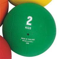 (Price/each)S&S Rubber Medicine Ball, 4.4-Lbs