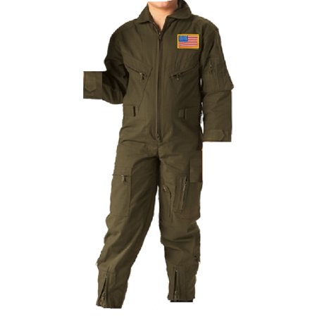 kids future pilot olive drab coverall flight suit xs - Children's Mechanic Coveralls