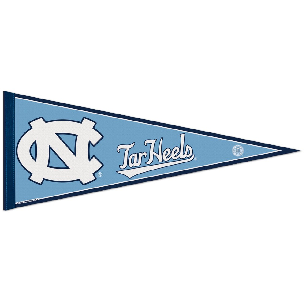 North Carolina Tar Heels Official NCAA 12 inch x 30 inch  Felt Pennant by WinCraft