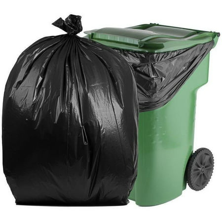 1.5 Mil Liners (PlasticMill 95 Gallon, Black, 1.5 Mil, 61x68, 50 Bags/Case, Garbage Bags / Trash Can Liners.)