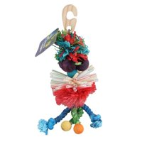 (2 Pack) Plastic Wood Rope Bird Hanging Toy