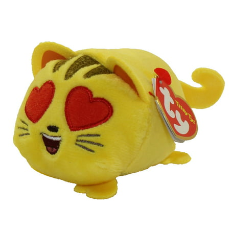 Hearts Stackable (TY Beanie Boos - Teeny Tys Stackable Plush - Emoji Movie- CAT HEART EYE (4)