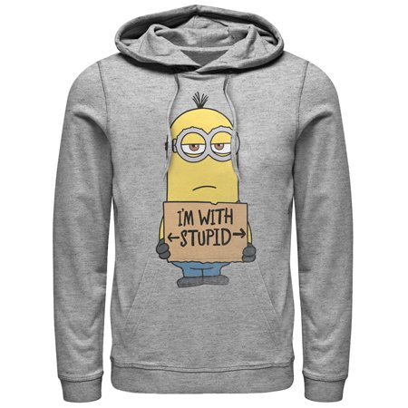 Minion Hoodie (Despicable Me Men's Minion With Stupid)