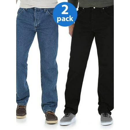 Wrangler Big Mens Regular Fit Jeans 2-Pack ()