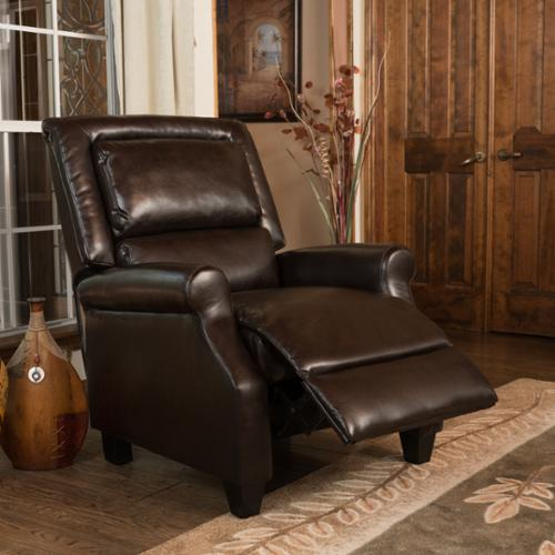 Christopher Knight Home Reddington Brown Bonded Leather Recliner Club Chair by by Overstock