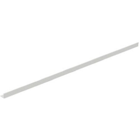 Lozier Store Fixtures HS1251 WHT 3 ft. Wide x 1 in. High, Snap In Shelf Retainer - Pack Of 10 ()