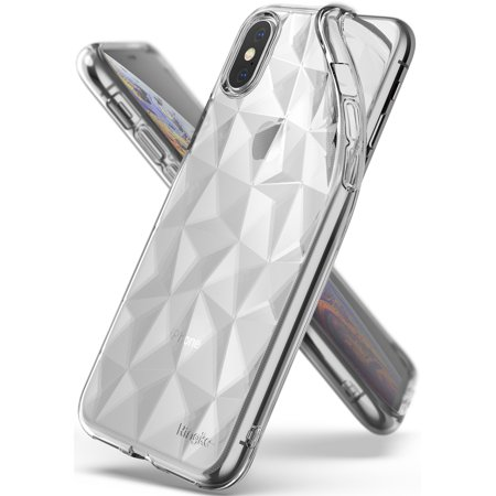 iPhone XS Case, Ringke [Air Prism] 3D Design Chic Stylish Pyramid Diamond Pattern Impact Resistant Flexible Durable TPU Protective Cover for Apple iPhoneXS - Clear