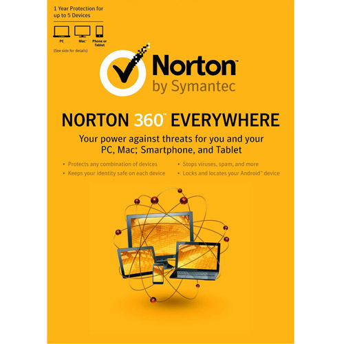 Norton 360 Everywhere, 1 User, 3 PCs (PC and Mac) by Symantec