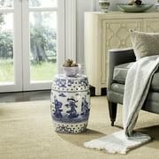 Simple Blue Garden Stool Jewel Chinoiserie Indooroutdoor And Decor