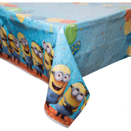 Despicable Me Minions Plastic Party Tablecloth, 84 x 54in](Minion Birthday Decorations)