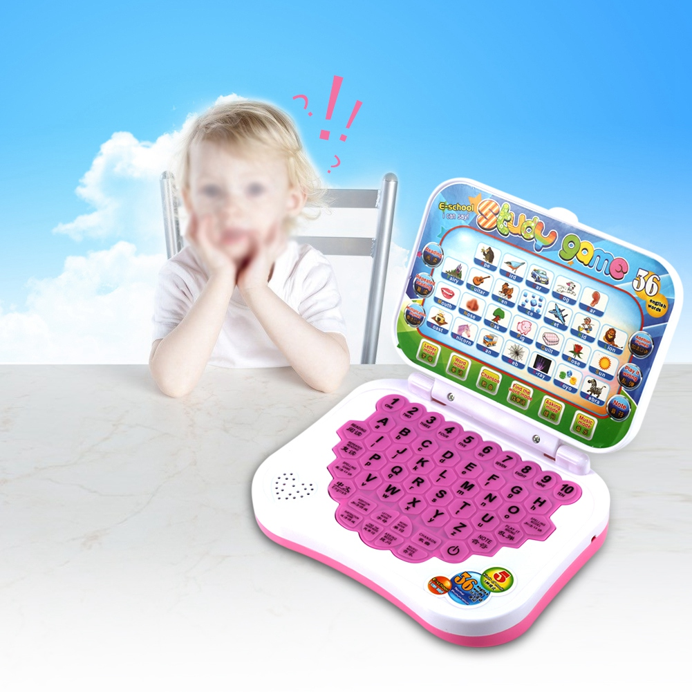 Yosoo Baby Kids Children Bilingual Educational Learning Study Toy Laptop Computer Game