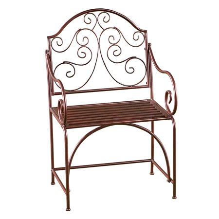 Outstanding Elegant Outdoor Metal Garden Patio Chair Bench Seat With Scroll Back Ocoug Best Dining Table And Chair Ideas Images Ocougorg