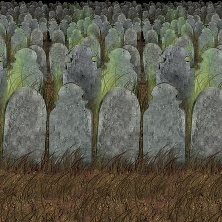 Graveyard Backdrop Halloween Decoration - Halloween Graveyard Clipart