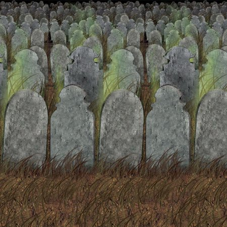 Graveyard Backdrop Halloween Decoration - Graveyard Decorations Halloween