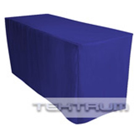 NEW 6' FT LONG FITTED TABLE DJ JACKET COVER FOR TRADE SHOW - BLUE COLOR ()