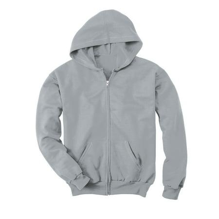 5071a4e51 Hanes Comfortblend EcoSmart Kids` Full-Zip Hoodie Sweatshirt, S, Navy
