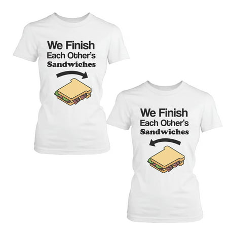 We Finish Each Other's Sandwich BFF Shirts Cute Matching Best Friends
