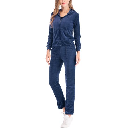 Coat Jacket Pants (Women's Velour Tracksuit Yoga Jogger Pant and Sport Bomber Jackets Velour Sweat Suits Sets )