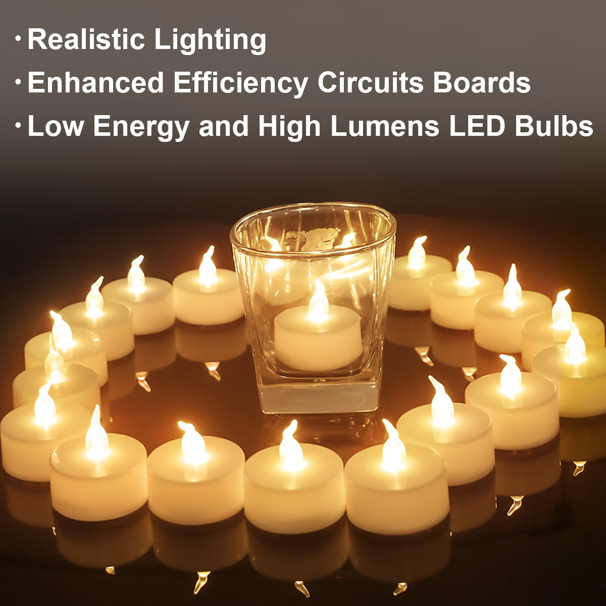 20pcs Battery Tea Lights Candle Flameless Party Wedding LED Electric Tealights-T